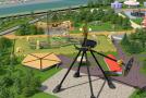 Vizuál obřího zábavního parku v Turecku.