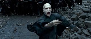 Lord Voldemort, kterého si Fiennes v Harrym Potterovi zahrál.