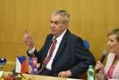 Miloš Zeman na návštěvě v Karlovarském kraji.