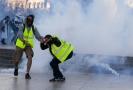 Protesty žlutých vest v Paříži.