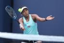 Japonská tenistka Naomi Osakaová na tréninku (ilustrační foto).