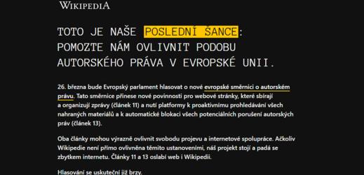 Wikipedia v mnoha svých mutacích ve čtvrtek nepůjde.