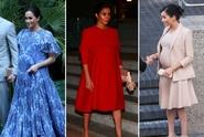 OBRAZEM: Vévodkyně Meghan odchází na mateřskou. Inspirujte se její nejlepší  těhotenskou módou