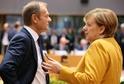 Donald Tusk na snímku s německou kancléřkou Angelou Merkelovou.