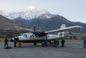 Letadlo na nepálském letišti.