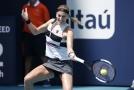 Petra Kvitová v zápase proti Garciaové.