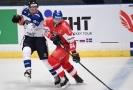 Hokejista Jiří Sekáč v utkání za Česko proti Finsku.