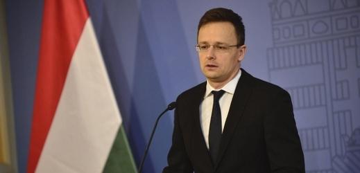 Maďarský ministr zahraničí Péter Szijjártó.