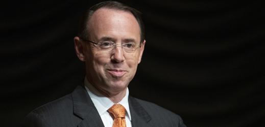Náměstek ministra spravedlnostiRod Rosenstein.