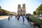 Katedrála Notre-Dame před požárem.