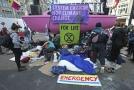 Ekologičtí aktivisté v Londýně.