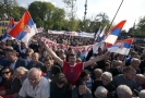 Demonstrace na podporu srbského prezidenta.