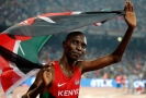 Keňský běžec Asbel Kiprop.