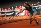 Karolína Muchová při utkání Fed Cupu proti Kanadě.