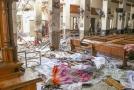 Následky útoku v jednom z kostelů.