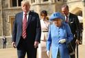 Donald Trump a královna Alžběta II.