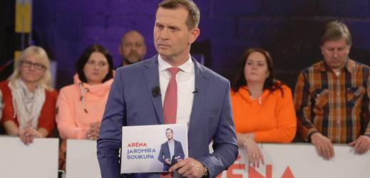Aréna Jaromíra Soukupa s politickými špičkami.