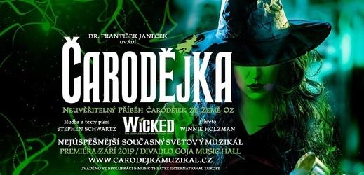 Plakát k muzikálu Čarodějka.