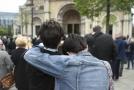 Pohřeb novinářky Lyry McKeeové.