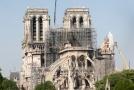 Katedrála Notre-Dame po požáru.