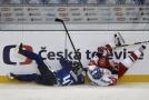 Obránce Radko Gudas byl posledním střelcem dnešního zápasu Carlson Hockey Games v Brně.
