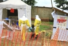 Pacienti nakažení ebolou v Kongu.