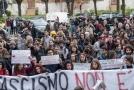 Demonstrace studentů v Římě proti neofašistické straně Forza Nuova (ilustrační foto).