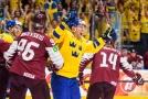 Švédsko si výhrou nad Lotyšskem zajistilo čtvrtfinále.