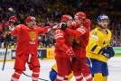 Rusové nastříleli Švédům šest gólů během druhé třetiny.