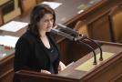 Ministryně práce a sociálních věcí Jana Maláčová na schůzi Sněmovny.