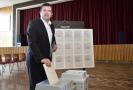 Předseda ČSSD Jan Hamáček odevzdal 24. května 2019 v Mladé Boleslavi svůj hlas ve volbách do Evropského parlamentu.
