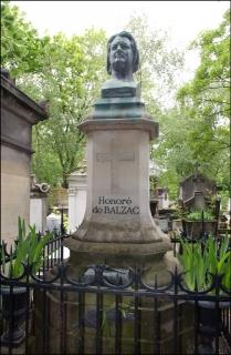 Místo posledního odpočinku spisovatele Honoré de Balzaca.