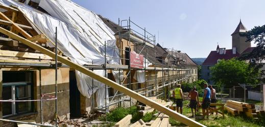 Na hradě Veveří pokračuje rekonstrukce.