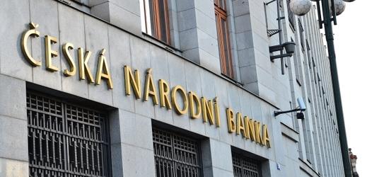 Budova České národní banky v Praze.
