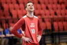 Mediální den českých basketbalistů před pokračováním kvalifikace o mistrovství světa se konal 20. února. Na snímku otevřený trénink ve Sportovním centru Nymburk - Lukáš Palyza. Klíčová slova