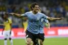 Edinson Cavani vstřelil jeden ze čtyř uruguayských gólů.