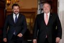 Zleva italský vicepremiér Matteo Salvini a ministr zahraničí USA Mike Pompeo.
