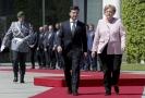 Angela Merkelová a Volodymyr Zelenskyj.
