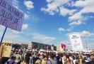 Demonstrace na Letné.