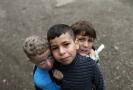 Obrázek dětských migrantů ze Srbska.