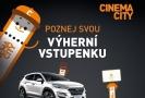 Cinema City podporuje návštěvnost kin soutěží o auto.