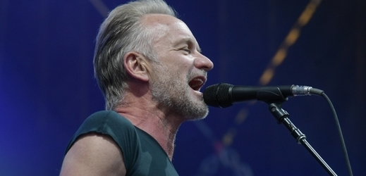 Britský zpěvák Sting.