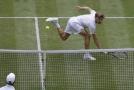 Čtvrtfinále Wimbledonu, utkání Djokovič - Goffin.