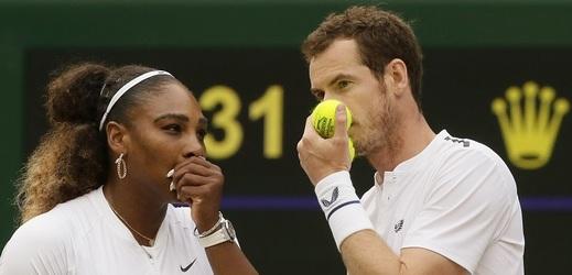 Andy Murray se ve Wimbledonu představil ve smíšené čtyřhře se Serenou Williamsovou.