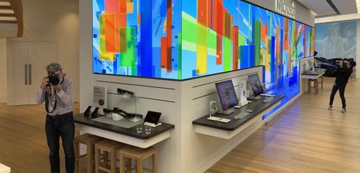 Maloobchod Microsoftu v Londýně.