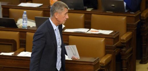Premiér Andrej Babiš na schůzi Poslanecké sněmovny v Praze.