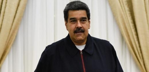 Venezuelský prezident Nicolas Maduro při setkání s Enriquem Iglesiasem.