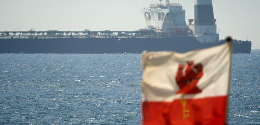 Zadržený íránský ropný tanker.