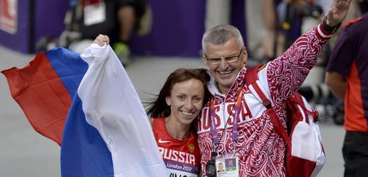 Ruský trenér Vladimir Kazarin.