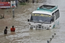 Záplavy v Nepálu.